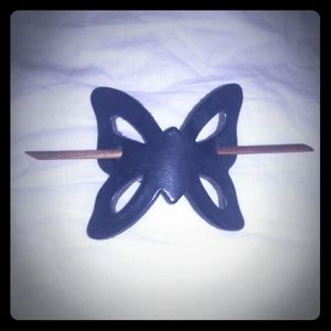 Accessories - Vin Leather butterfly hair clip